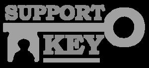 Logo Support Key BW